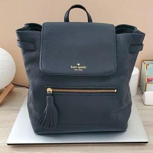 Kate Spade Black Leather Medium Backpack
